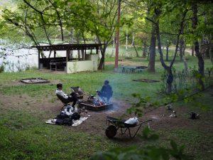 四尾連湖でデイキャンプ